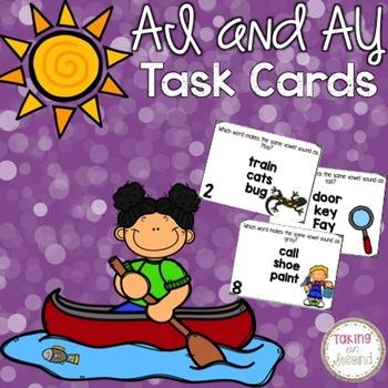 Ai and Ay Task Cards