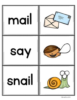 Ai and Ay Vowel Pairs Literacy Resource