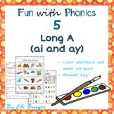 Ai and Ay Worksheets - Fun with Phonics!