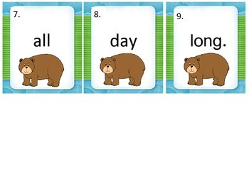Long A write the room Bear themed