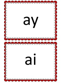 Ai and Ay - sorting and spelling activities