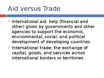 Aid vs Trade / International Trade / Multilateral Aid / FDI Economics PPTs