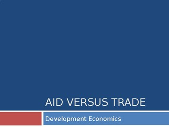 Aid vs Trade / International Trade / Multilateral Aid / FD