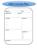 Aide Lesson Plan Template