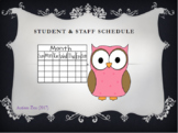 Aide/ Student Schedule Template