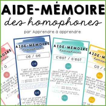 Aide-mémoire homophones