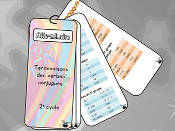 Aide-mémoire (référentiel), terminaisons des verbes, 2e cycle
