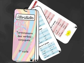 Aide-mémoire (référentiel), terminaisons des verbes, 3e cycle