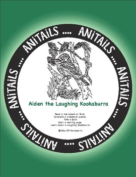 ANiTAiLS: Aiden the Laughing Kookaburra Story, Crossword, Coloring page and more