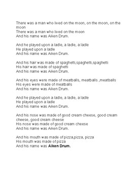 Aiken Drum Activity