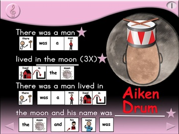 Aiken Drum - Animated Step-by-Step Song - SymbolStix