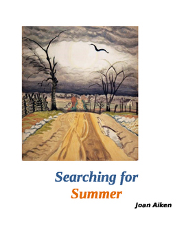 """Aiken ~ """"Searching for Summer""""  MASTER PACKET (8 pages) COMMON CORE & KEY"""