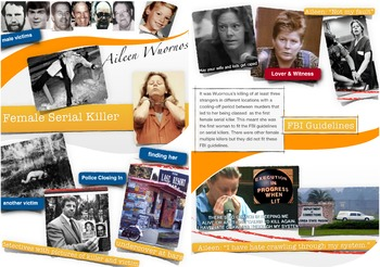 Aileen Wuornos - Female Serial Killer with Male Victims - Florida - FREE POSTER