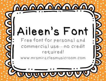 Aileen's Font {For Personal and Commercial Use}