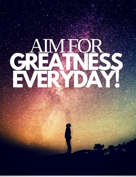 Aim for Greatness POSTER