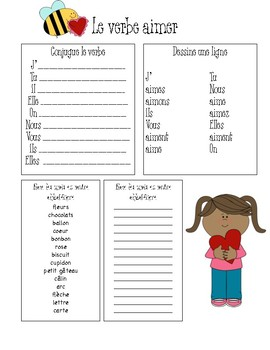 Aimer Worksheets (French Immersion)