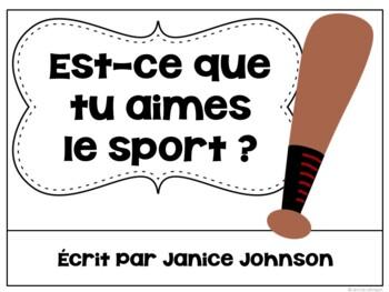 Aimes-tu le Sport ? ~ French Aimer Sports Reader & Build-A-Book