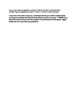 Aims Web BOY Benchmark Parent Letter