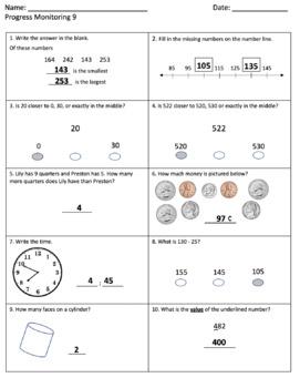2nd Grade AimsWeb MCap Test Prep and Progress Monitoring