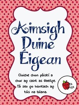 Aimsigh Duine Éigean - Cluiche Labhartha Gaeilge // Oral Irish Game