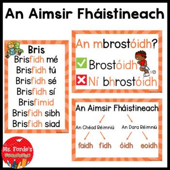 Aimsir Fháistineach (Future Tense rules/endings full poster set)
