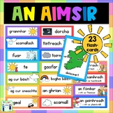 Aimsir Flashcards with pictures - Gaeilge - Weather