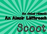 Aimsir Láithreach Scoot Game and Task Cards