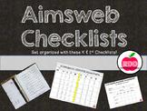 Aimsweb Assessment Checklists and Organization....Kinderga