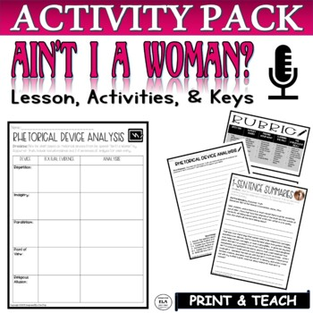 Ain't I a Woman by Sojourner Truth Common Core Reading Activities (2)