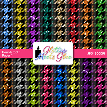 Digital Glitter Houndstooth Paper {Scrapbook Backgrounds for Resources} 1