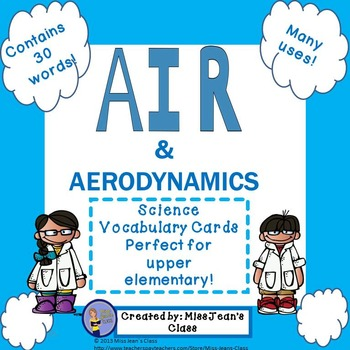 Air & Aerodynamics Science Resources - Vocabulary Cards