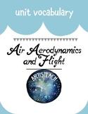 Air, Aerodynamics, and Flight Vocabulary Organizer
