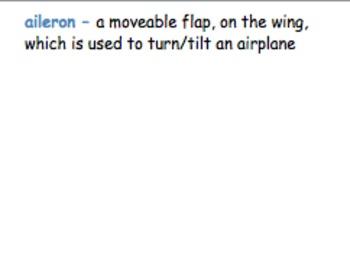 Air, Aerodynamics and Flight Vocabulary Word Wall