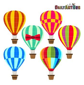 Air Balloons Art Clip Art - Great for Art Class Projects!