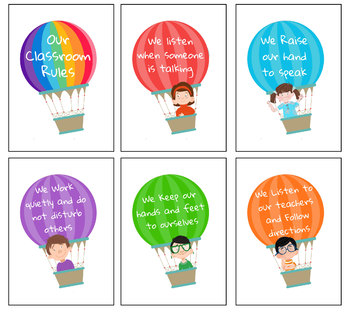 Air Balloons Classroom Rules
