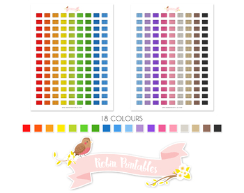 Air Filter Printable Planner Stickers