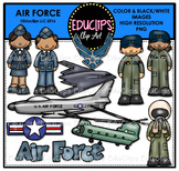 Air Force Clip Art Bundle {Educlips Clipart}