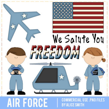 Air Force Clip Art Graphics by Alice Smith