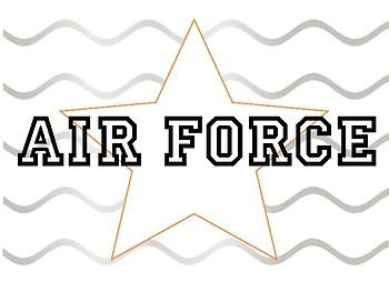 Air Force Coloring Sheet