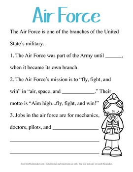 Air Force Unit Study- Early Elementary