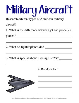 Air Force Unit Study- Upper Elementary