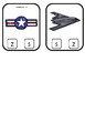 Air Force themed Beginning Sounds Clip It Game.Printable Preschool Game