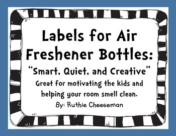 Air Freshener Labels: Cute and Free