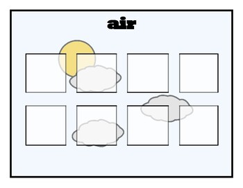Air, Land, Water SORTING activity, SPEECH THERAPY, Autism, Vocabulary