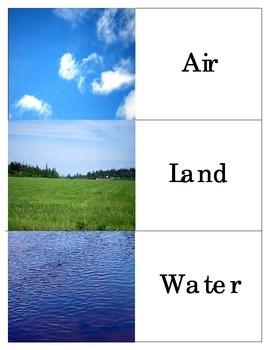 Air Land Water Transportation Montessori Three Part Cards