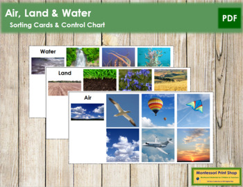 Air, Land, and Water: Sorting Cards