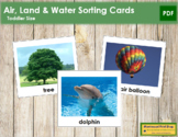 Air, Land and Water Sorting Cards - Montessori Toddler Cards (vocabulary)