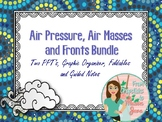 Air Masses, Air Pressure and Fronts Bundle for Interactive Notes