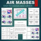 Air Masses -Arctic, Polar, Tropical, Maritime, Continental Sort & Match Activity