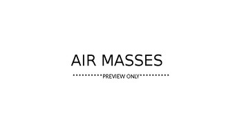 Air Masses, Atmosphere PPT